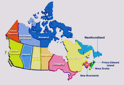 Map Of Canada And The States.Study In Canada Cost Of Study In Canada Alok International