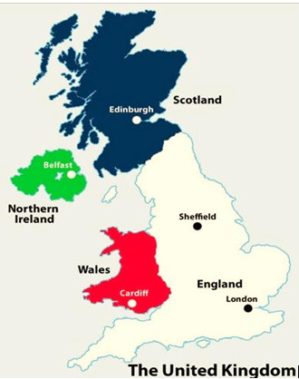 Map Of Uk Countries And Capital Cities.Capitals Cities Of Uk